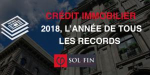 En 2018, l'encours de l'emprunt immobilier en France a dépassé les 1000 milliards d'euros en 2018, un record.